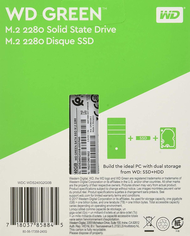 Western Digital SSD WDS120G2G0B 120GB SATA III 6Gb-s M.2 ...