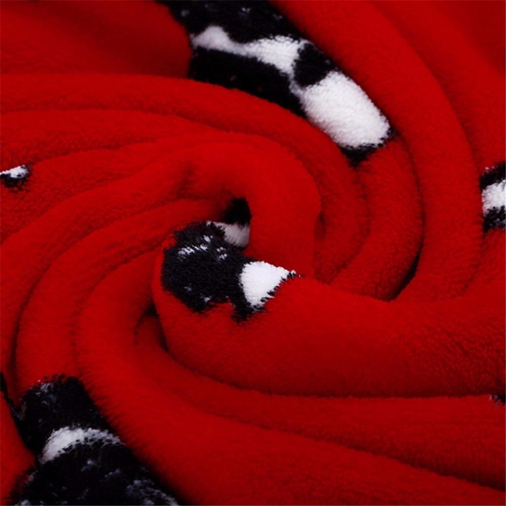 Coral Fleece Dog Print Warm Soft Bed Blanket