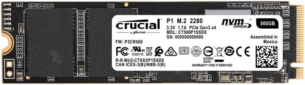 Crucial SSD CT500P1SSD8 NVMe PCI-express